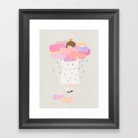 The sweet clouds Framed Art Print