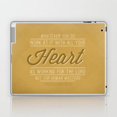 Colossians 3:23 Laptop & iPad Skin