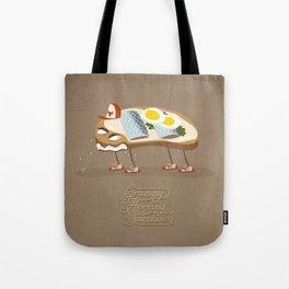 Grumpy Herring Sandwich Tote Bag
