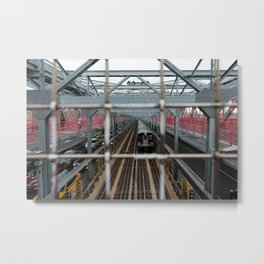 J Train - Williamsburg Bridge Metal Print