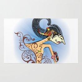Wayang or shadow puppets Rug