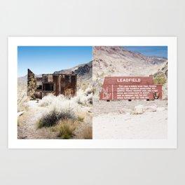 Leadfield, Death Valley.  Art Print