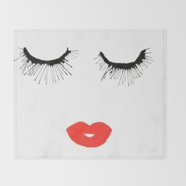 Lashes & Lips Throw Blanket