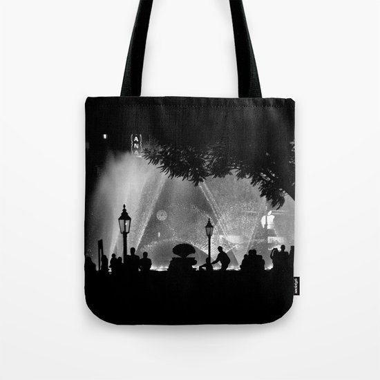 night time in the city Tote Bag