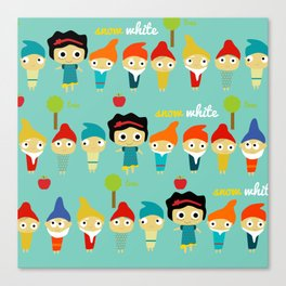 Snow White and the 7 dwarfs Canvas Print
