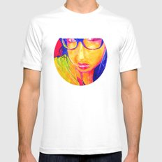 Hailey Seals White MEDIUM Mens Fitted Tee