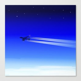 Jet Heading Home Canvas Print