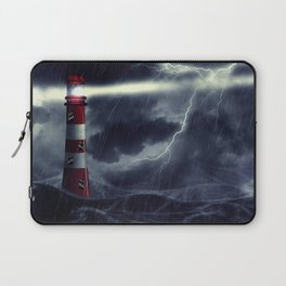 Stormy Sea and Lighthouse Laptop Sleeve