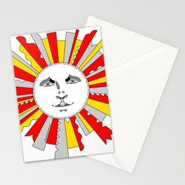 Space Sun Stationery Cards
