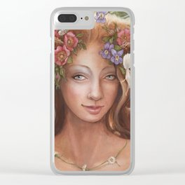 violets are for dreaming Clear iPhone Case