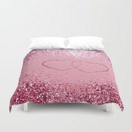In Love Sparkling Glitter Hearts #1 #red #decor #art #society6 Duvet Cover