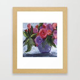 Red and Purple Framed Art Print