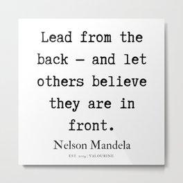 9  | Nelson Mandela  Quotes | 190818 Metal Print