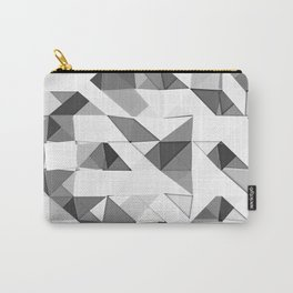 Triangular Deconstructionism Light Mono Carry-All Pouch