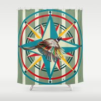not all who wander Shower Curtains featuring Not all those who wander are lost by milanova