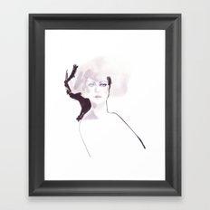 Fashion illustration in pale colors Framed Art Print