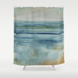 Prayer at Water's Edge Shower Curtain