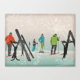 Skiers Summit Canvas Print