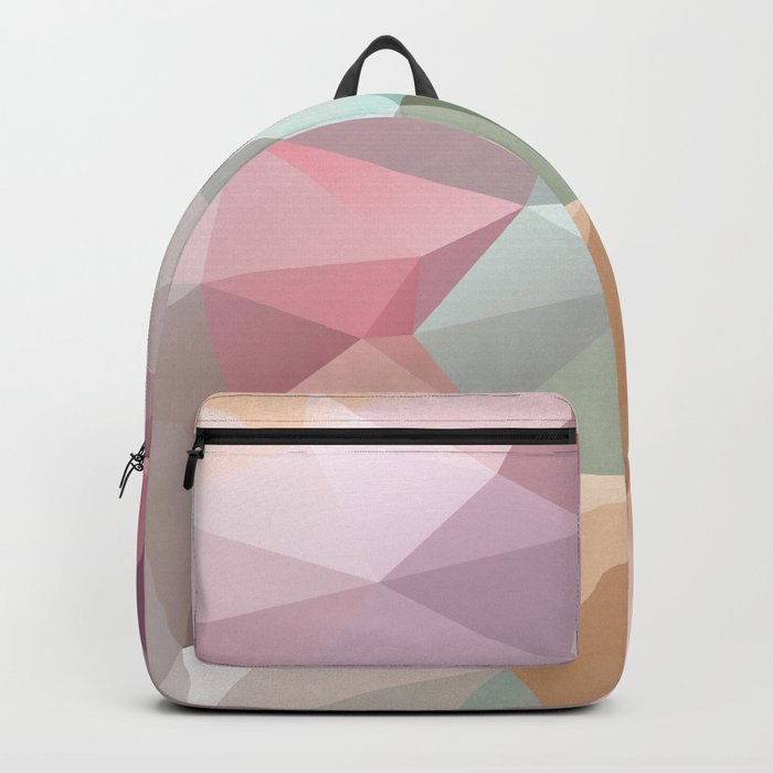 Abstract triangles polygonal pattern Backpack