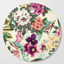 Floral and exotic birds-0010 Cutting Board
