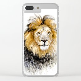 African Lion Male Clear iPhone Case