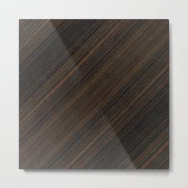 Ebony Macassar Wood Metal Print