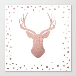 Reindeer - rose gold Canvas Print