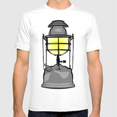 Lantern Mens Fitted Tee SMALL White
