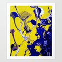 Ultra Violet Blue Yellow Abstract Paint by sirtorrart