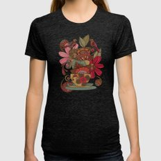 Good Morning Womens Fitted Tee Tri-Black SMALL