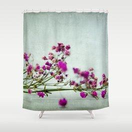pink florets branch Shower Curtain