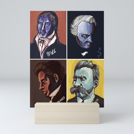 Hegel Kant Kierkegaard Nietzsche Mini Art Print