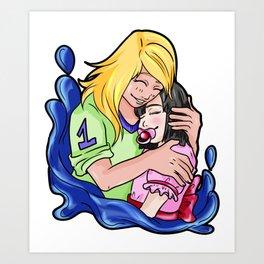 Adult Baby Little Couple Binkie Daddy ddlg Brat Art Print