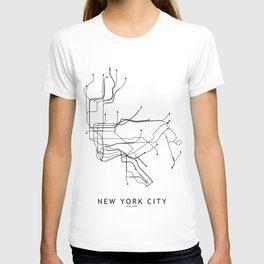 Nyc Subway Map Tshirt.Subway T Shirts Society6