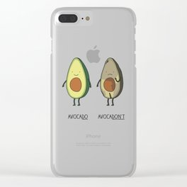 Eat avocado right! Clear iPhone Case