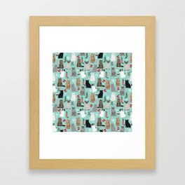 Catsmas cat christmas gifts pet friendly pet portraits holiday cat lady must haves Framed Art Print