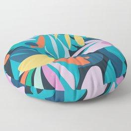 Blue meadow Floor Pillow