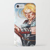 thor iPhone & iPod Cases featuring Thor by Boisson