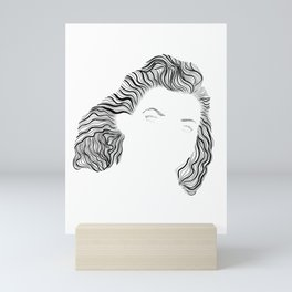 Virgina, in transparent/black Mini Art Print