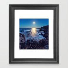 Cove of Moonlight Framed Art Print