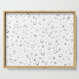 Rain Drops Attached Superior Fabric Washed Humid Spheres Serving Tray