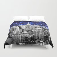 new york city Duvet Covers featuring new york city. Blue Stars by 2sweet4words Designs