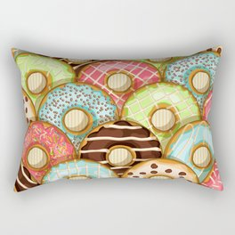 Sweet donuts in glaze Rectangular Pillow