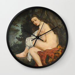 Edouard Manet - La Nymphe Surprise Wall Clock