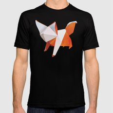 Origami Fox MEDIUM Mens Fitted Tee Black