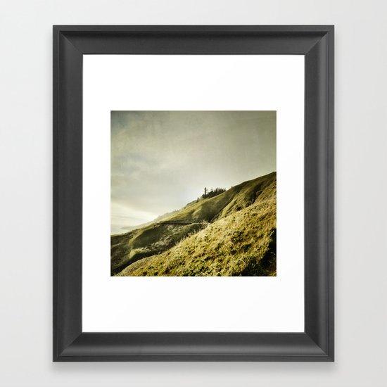 light cascades Framed Art Print