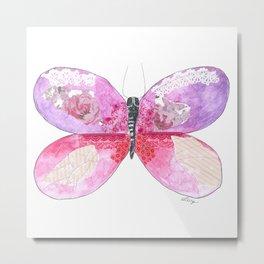 Violet Butterfly Metal Print