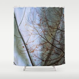 Tree reflection on its leaf Shower Curtain