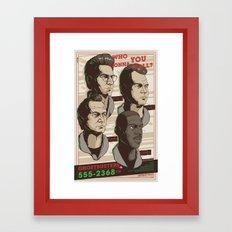 Ghostbusters 30th Anniversary Poster / REGULAR Framed Art Print