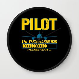 Pilot In Progress Please Wait Aircraft Wall Clock